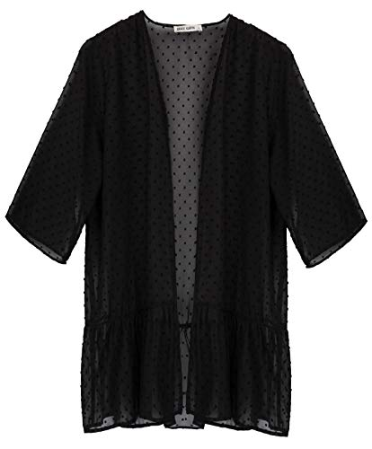 GRACE KARIN lang Cardigan Damen Mantel warm strickcardigan Herbst Mantel Blouson L CL3221-1