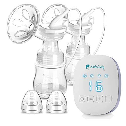 Portable Dual doppio elettronico tiralatte elettrico pompa per l' allattamento al seno 16livelli regolabile aspirazione alimentazione USB ricaricabile tiralatte