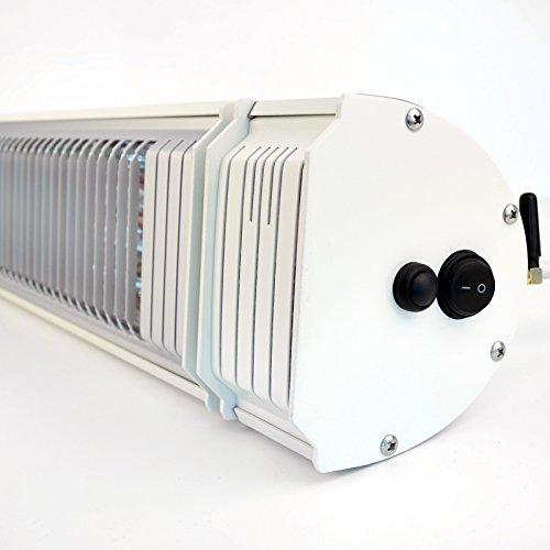 VASNER Infrarot-Heizstrahler Appino 20 weiß, App Steuerung, Fernbedienung, 2000 Watt, Terrassenstrahler elektrisch, Infrarotstrahler Terrasse außen, Bluetooth - 3