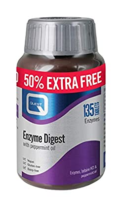 Quest Enzyme Digest Digestive Aid Tablets, 135-Count