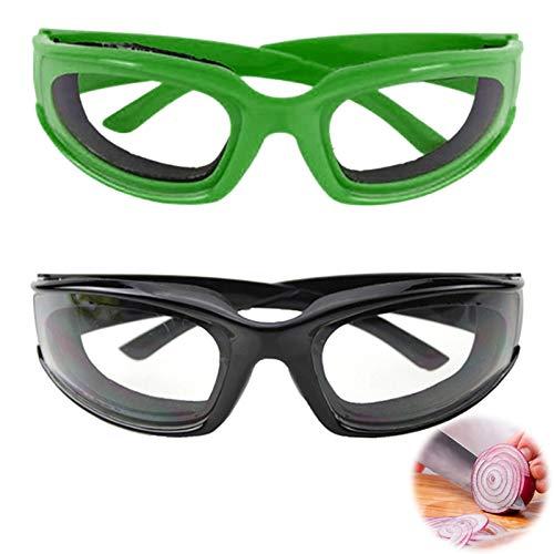 LWXCHE06 Zwiebel Schutzbrille Winddichte Zwiebel Brille Schutzbrille Augen Protector Zwiebel Augenschutz Schutzbrille zum Schneiden und Schneiden Heimgebrauch Küchenhelfer Grün Schwarz 2 Stück
