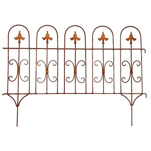 Gerry Beetzaun Gartenzaun Zaun Zaunelement Windsor Rankhilfe Metall Eisen Rost Deko 58cm hoch x 81cm lang