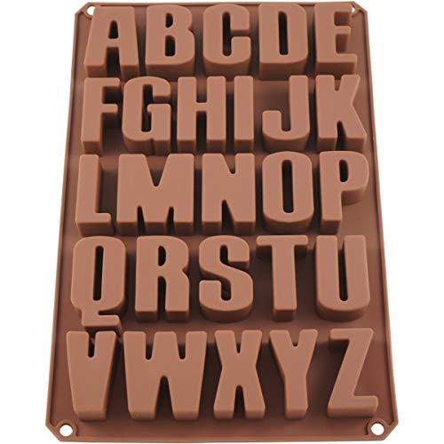 UMI. by Amazon - 26 Buchstaben Silikonform Seifenform Backform Schokoladenform 34 * 22.5 * 2.5cm - BPA-Frei