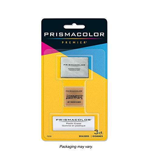 Prismacolor Premier Kneaded, ArtGum and Plastic Erasers, 3 Pack