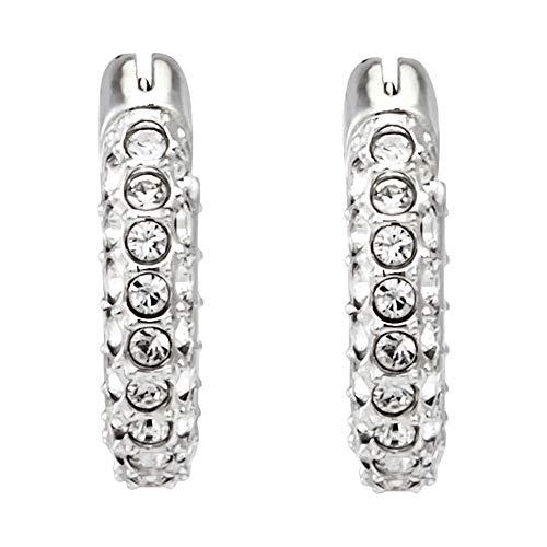 Swarovski Stone Ohrstecker rhodiniert mit Swarovski Kristallen 5446004