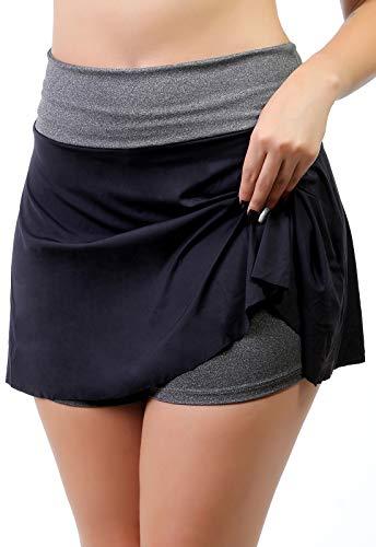 Short Saia Fitness Feminino (Preto, M)