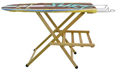 Asse Tavola Tavolo da stiro in legno massello di faggio levigato Naturale modello lusso
