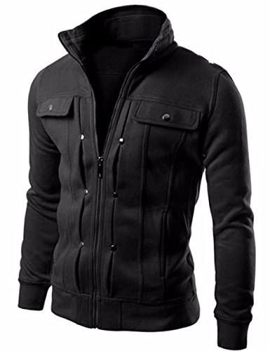 EMMA Heren Herfst Slim Fit Dunne Katoen Vest Casual Warm Outdoor Rits Trek Pocket Sport Hooded Cashmere Trui Jas Outwear
