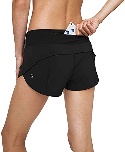 LULULEMON Speed Up Short Low-Rise 2.5' Lined (Color 000, 6)