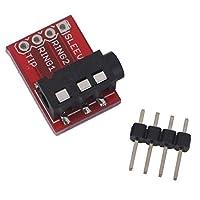 UIOTEC 5PCS TRRS 3.5 MMステレオオーディオジャックブレイクアウトボードヘッドフォンビデオmp3ジャックfor Arduino