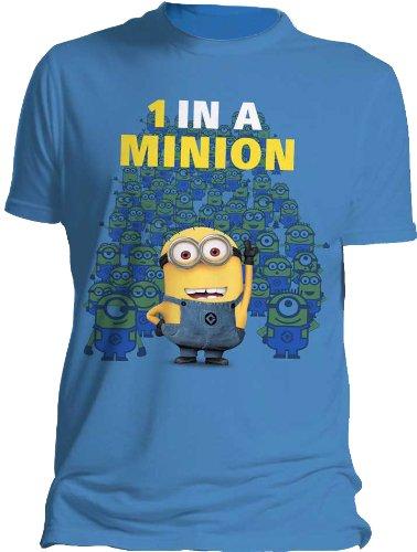 Despicable Me Herren T-Shirt 1 in a Minion, Ich einfach unverbesserlich 2, Gr. S, Blau m