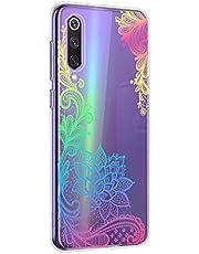 Oihxse Mandala Flores Encaje Patrón Serie Case Compatible con Huawei Play 7/Play 7 Lite Funda TPU Silicona Suave Protector Ultra Slim Anti-Rasguño Transparente Carcasa (A4)
