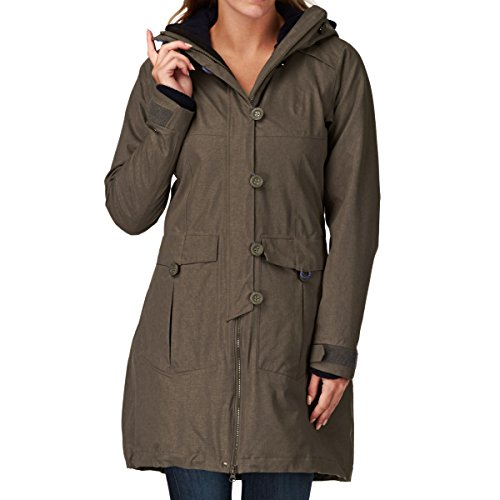 Bergans Damen Bjerke 3in1 Lady Mantel, Outer:Clay/Inner:Midnightblue, S