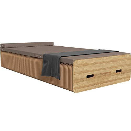 ZXCVB Cama De órgano Plegable Cama De Papel Plegable Portátil De Alta Carga Adecuada para Sala De Estar Y Dormitorio,90cm
