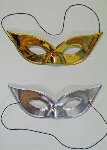 Festartikel Müller Karneval Kostüm Zubehör Augenmaske Gold zu Fasching Halloween