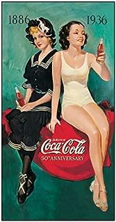 Desperate Enterprises Coca-Cola 50th Anniversary Bathers Tin Sign, 8.5