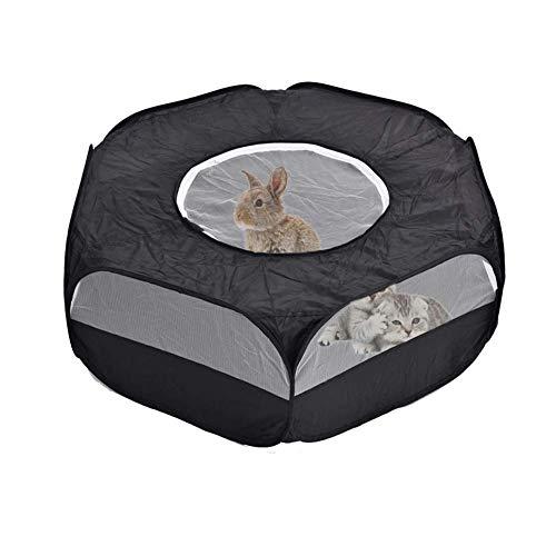 Sokey - Parque infantil plegable para animales pequeños con cremallera para interiores...