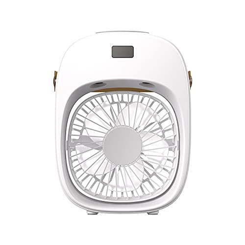 QINX Ventilador de aire acondicionado de escritorio, USB, pequeño, para limpieza de aire frío, humidificador, 10 metros cuadrados, 200 ml, con capacidad del depósito de agua