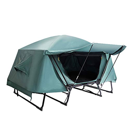 Ffhshop Tents/Tent with Screen Room Warm Off-ground Outdoor Tent Rainproof Double-layer Outdoor Tent Camping Picnic Thickening Tent Tent for Camping with (Size : L)