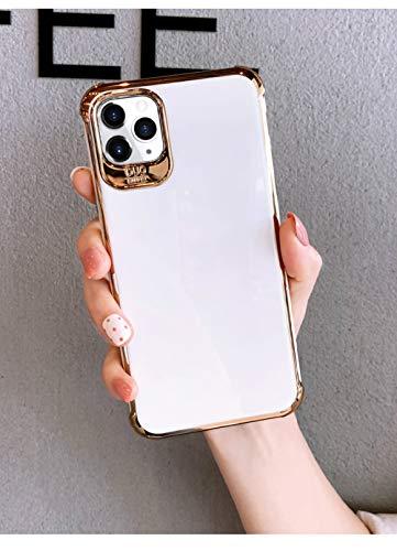 Estuches de teléfono con soporte de originalidad de diamantes de imitación de lujo para iPhone 12 mini 12 Pro Max 11 Pro X XR XS Max Funda para iphone 7 8 P SE2, solo funda blanca, para iPhone XS MAX