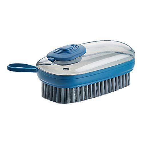 Pot Washing Soft Brush Kitchen Household Dishwashing Brush Laundry Brush Automatic Liquid Addition Shoe Cleaning Brush Blue