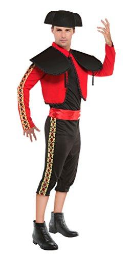 Karneval-Klamotten Spanier Kostüm Herren Torero Matador Kostüm MIT Hut Karneval Spanien Herren-Kostüm