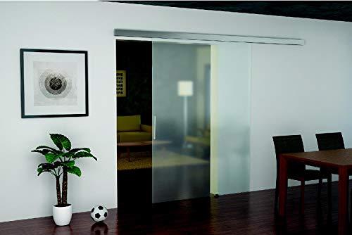 Glazen schuifdeurbeslag SLIDO CLASSIC 80-G voor glazen deuren met soft-closing inschuifdemping | glazen deurbeslag tot 60 kg deuren | rails lengte 2000 mm | 1 schuifdeursysteem voor glazen schuifdeuren