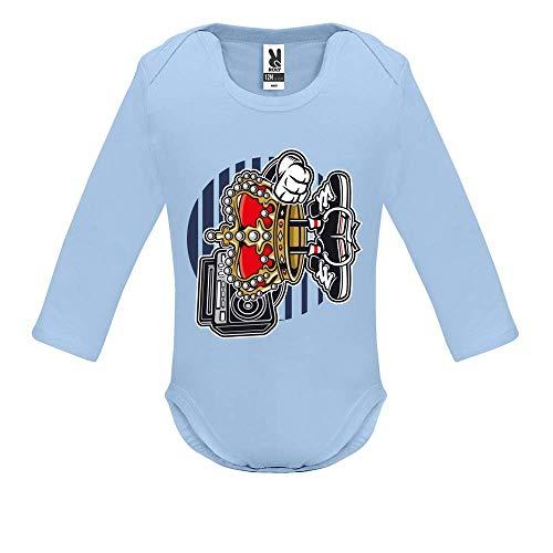 Body bébé - Manche Longue - Street King - Bébé Garçon - Bleu - 18MOIS