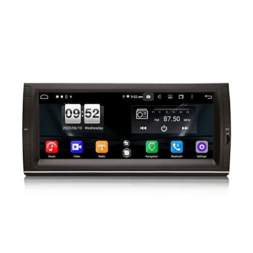 ERISIN Autoradio Android 10.0 da 10,25 pollici per BMW Serie 5 E39 E53 X5 M5 Supporto GPS Sat Nav Carplay Android Auto DSP Bluetooth Wifi DAB + TPMS 8-core RAM 4GB + 64GB ROM