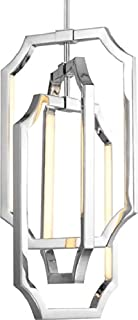 Feiss F2954/6PN Audrie LED Glass Pendant Lighting, 6-Light, 21 Watt, Polished Nickel (10