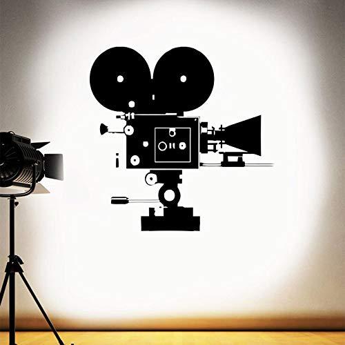 zxddzl Retro Kamera Wandtattoo Film Film Heimkino Wandaufkleber Vinyl Abnehmbare Innenwandbild Tapete Wohnzimmer DecorCM 72x72cm