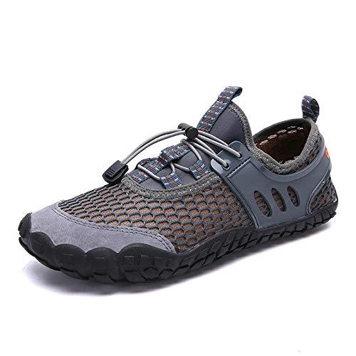 Aerlan Zapatos de Snorkel para Nadar,Suela de Goma Zapatos de Agua,Zapatos de natación Playa al Aire Libre Ejercicio Interior Fitness Shoes-Gray_40