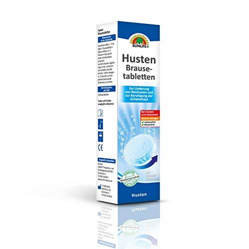SUNLIFE Husten Brausetablettem: Zur Linderung von Reizhusten und zur Beruhigung der Schleimhaut. 20 Brausetabletten