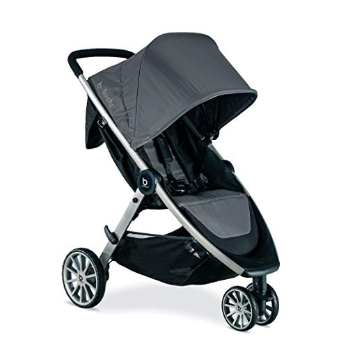 BRITAX B-Lively Lightweight Stroller - Up to 55 pounds - Car Seat Compatible - UV 50+ Canopy - Easy Fold, Dove
