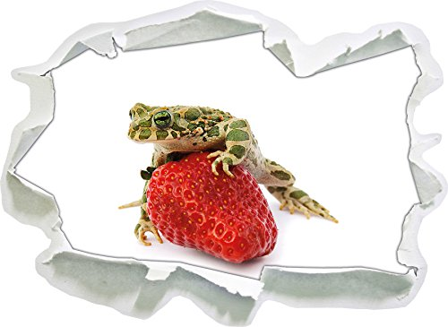Strawberry Frog Verre Strawberry Frog, Papier 3D Taille Sticker Mural: 62x45 cm décoration Murale 3D Stickers muraux Stickers