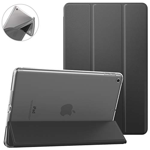 Dadanism Smart Case for iPad 9.7 2018/2017, Lightweight Protective Shell Cover Case with Auto Sleep/Wake, Flexible TPU Back Case and Micro-Fiber Lining Fit Apple iPad 9.7' 2017/2018 - Space Gray…