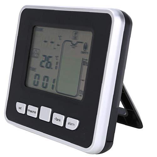 Ultraschall-wassertank Füllstandmessgerät Temperatursensor Batteriewechsel Flüssigkeit Tiefenanzeige Zeit Alarm Transmitter Werkzeuge Mess