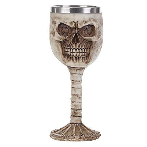 WINOMO Halloween Crâne Vin Gobelet Tasse Vintage Verre à Vin Tasse à Boire Tasse d'eau Grillage Tasse Accessoires de Cuisine