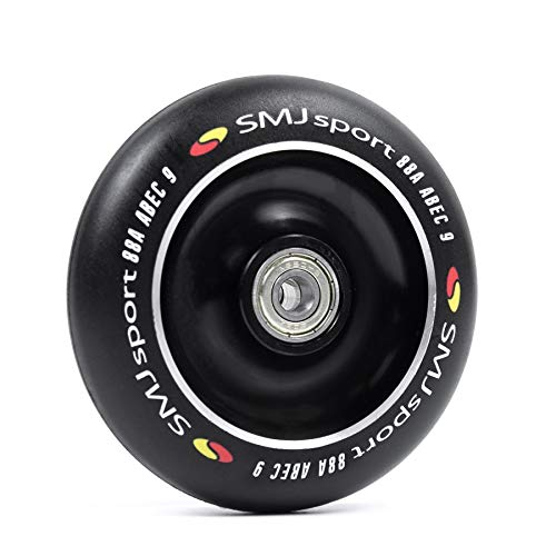 SMJ Stunt - Ruedas para patinete (100 mm, con rodamientos ABEC9, 88A)