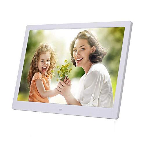 HZWDD Marco de Fotos Digital 1366 * 768 Soporte de Marco de Fotos electrónico de 19 Pulgadas de Alta resolución Vista previa de la Imagen/Rotación automática/Tarjeta MS/SD/MMC/USB/Calendari