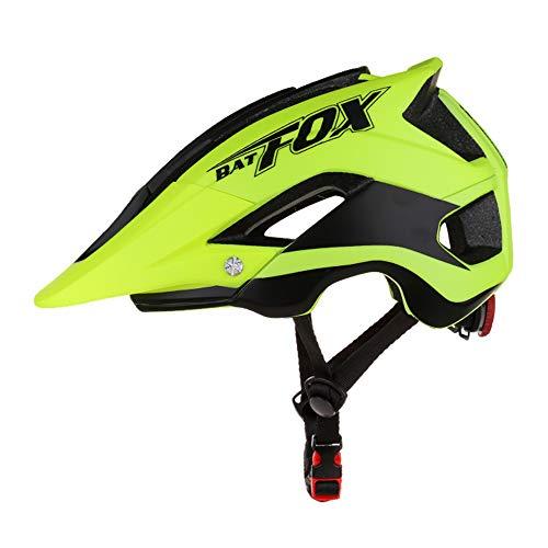 Blusea Casco de Seguridad MTB de Carretera Bicicleta Ciclismo Casco Ajustable Transpirable para Hombres/Mujeres (Black Green)