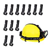 Helmet Light Clips for Headlamp, Headlamp Hook, Hard Hat Light Clip, Hardhat Headlamp Accessory, Easily Mount Headlamp on Narrow-Edged Helmet (12 Pack)