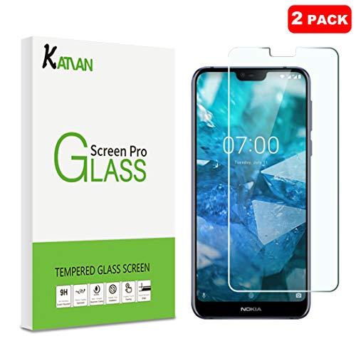 KATIAN [2 Pack] Pellicola Protettiva per Nokia 7.1, 2.5D Protezione Schermo in Vetro Temperato [Bordi Arrotondati] [Ultra-Clear] Protezione Film con Nokia 7.1