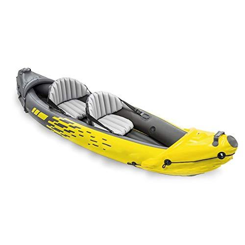 Bote Inflable Canoa Kayak, Bote Inflable De Almacenamiento Plegable Doble Individual, Bote De Pesca, Bote De Asalto, Kayak De Mar con Remos