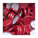 50 Stück X to 43 mm Rot Schraubdeckel für Gläser • Twist Off Deckel Verschluss Ø 43mm • Ersatzdeckel To43 • 25,50,100,150,200,250,500 Stück • Große Auswahl Verschiedene Größen und Farben