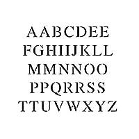 Times New ローマ字アルファベット - 大文字ステンシル - 4インチ - 7.5ミル スタンダード