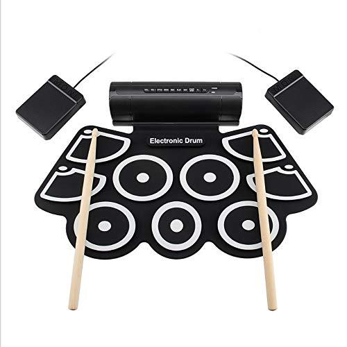 Batería eléctrica Kit de batería MIDI Pedales de pie Baquetas y fuente...