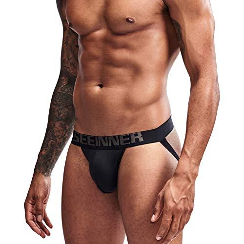 Arjen Kroos Sexy Jockstraps para Hombre Slips Tangas Deportivo Suspensorios para Hombre Algodón Transpirable Ropa Interior Calzoncillos