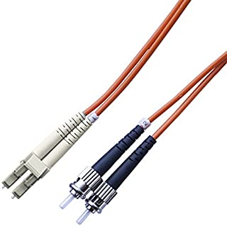 Total Cable Solutions OM1 62.5/125 Multimode Duplex Fiber Optic Patch Cable, LC to ST (2 Meters)