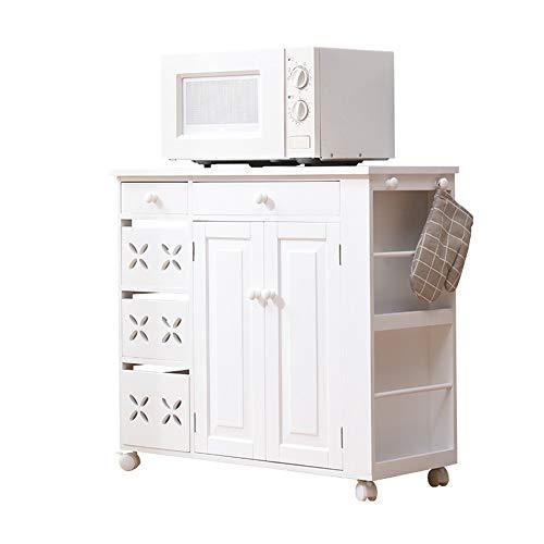 NgMik Muebles Modernos Microondas Cafetera Utilidad bufé Accent Puerta de Entrada Puerta de Entrada Barra de Cocina Gabinete de Almacenamiento Pasillo Aparador (Color : White, Size : 83x35x76cm)